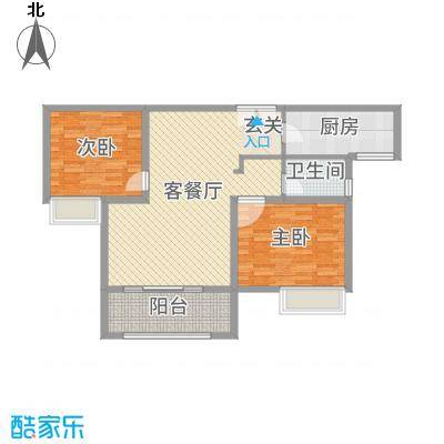 君河湾94.00㎡2、3期户型2室2厅1卫1厨