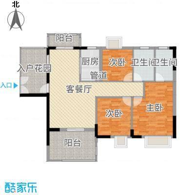富盈WO城118.00㎡8栋02户型3室3厅2卫1厨