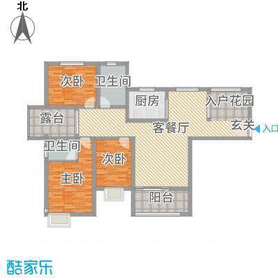 锦江・城市花园二期142.57㎡三期G户型3室3厅2卫1厨