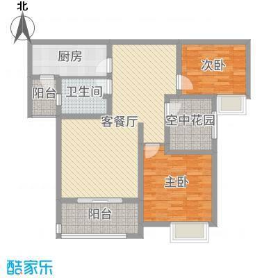 锦江・城市花园二期99.22㎡N户型2室2厅1卫1厨