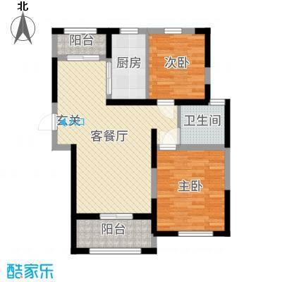 淮矿东方蓝海92.00㎡A地块D户型2室2厅1卫1厨