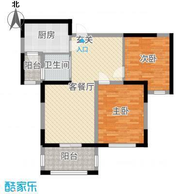 淮矿东方蓝海90.00㎡A地块E户型2室2厅1卫1厨