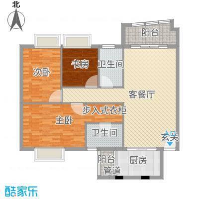华南御景园130.00㎡4-9层01单位户型3室3厅