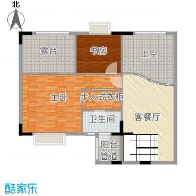 华南御景园150.20㎡大复式上层户型2室2厅1卫