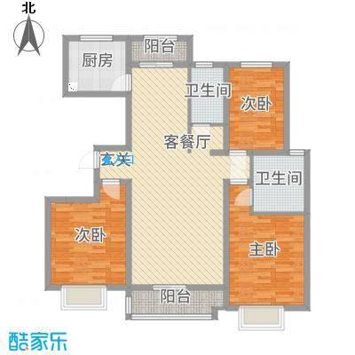 翡翠家园135.61㎡3号楼G户型3室3厅2卫1厨