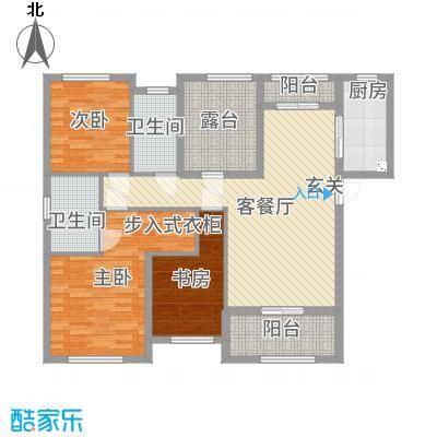 旭辉香樟公馆118.48㎡3#A户型3室3厅2卫1厨