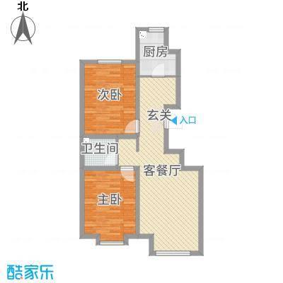 中东凯悦公馆89.00㎡小高层7/10/11/13号楼标准层A户型2室2厅1卫1厨