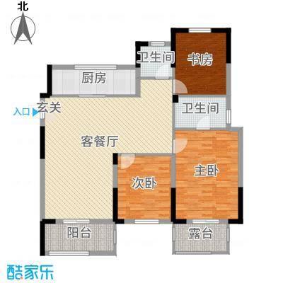 保集湖海塘庄园142.00㎡高层D4户型3室3厅2卫1厨
