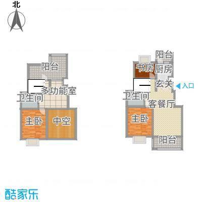隆源・城市之星134.51㎡A跃层户型3室3厅2卫