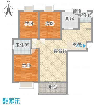 隆源・城市之星132.58㎡E1户型3室3厅2卫