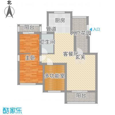 沁春园98.08㎡一期电梯多层E型6F户型3室3厅1卫