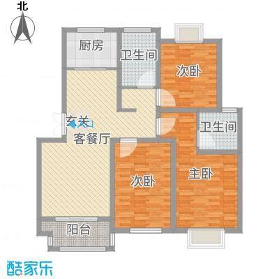 中科碧水豪庭118.00㎡1期1#4#楼D1户型3室3厅2卫