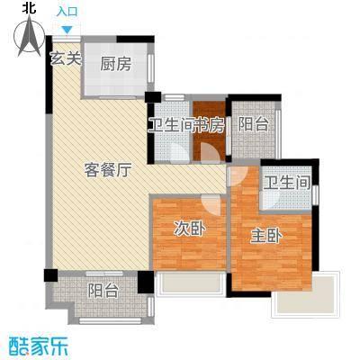 博达汇峰102.00㎡5幢01户型3室3厅2卫1厨