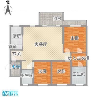 滨海俊园125.00㎡D户型3室3厅2卫