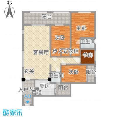 滨海俊园170.00㎡C户型4室4厅2卫
