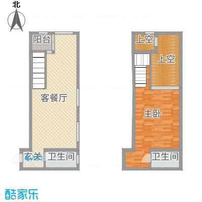 滨海俊园60.00㎡F1户型1室1厅