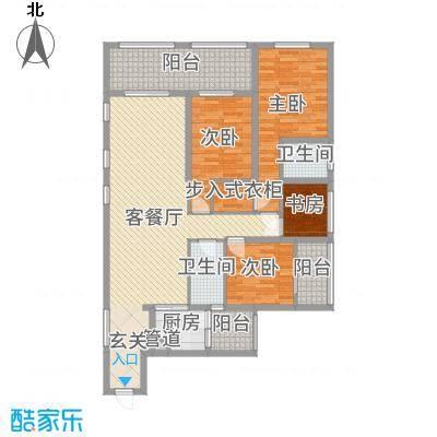 滨海俊园177.00㎡C户型4室4厅2卫1厨