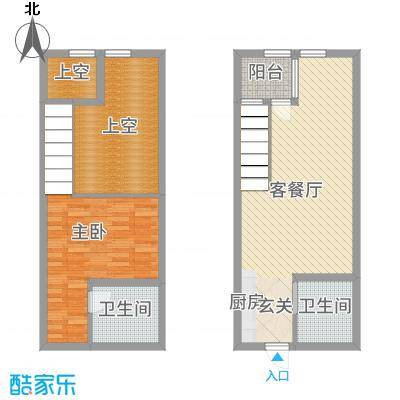 滨海俊园50.00㎡F户型1室1厅