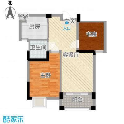 远大尚林苑78.54㎡11#12#A2户型2室2厅1卫1厨