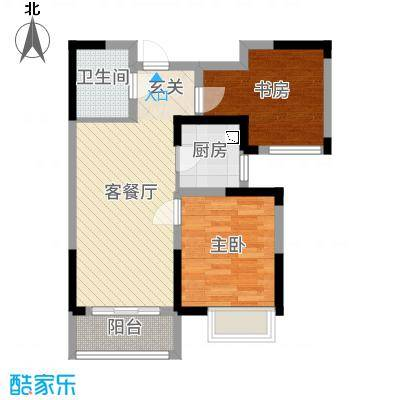 香港城78.00㎡C-2户型2室2厅1卫1厨