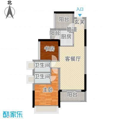 龙光・水悦龙湾89.00㎡7/8/9座03单元户型3室3厅2卫1厨