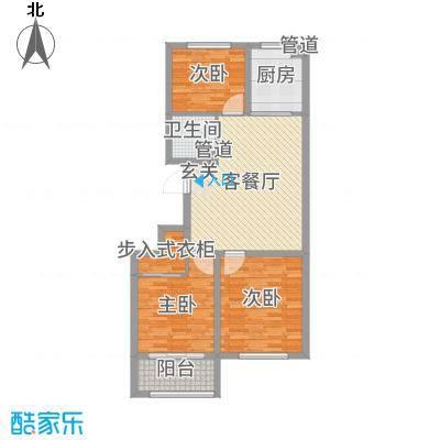 东方国际新城95.34㎡3号楼D户型3室3厅1卫1厨