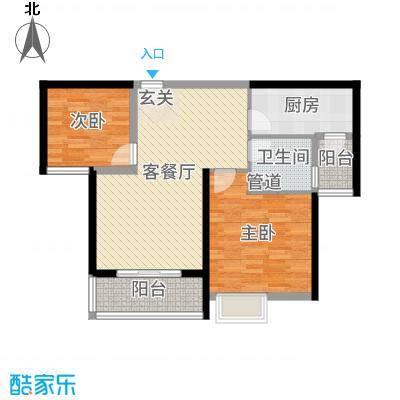 恒大御景湾83.00㎡3号楼2号房户型2室2厅1卫1厨