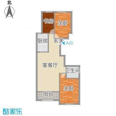 维多利大商城119.77㎡9#西户A1户型3室3厅1卫1厨