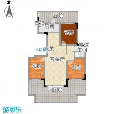 领秀蓝珀湖106.00㎡二期多层B户型3室3厅1卫1厨