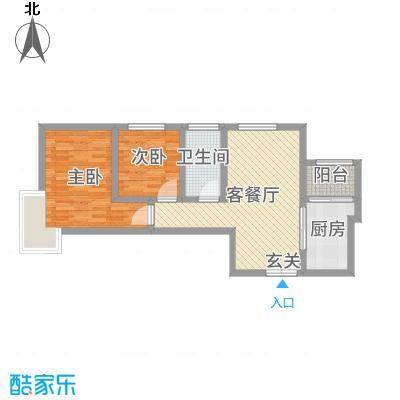 君河湾74.00㎡三期户型2室2厅1卫1厨