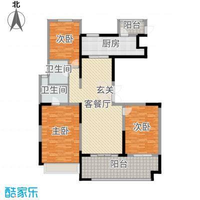 优山美地名邸160.00㎡11#C4户型3室3厅2卫1厨