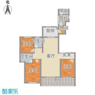 新城帝景146.00㎡北区30-31#楼标准层塞纳河殿户型3室3厅2卫1厨