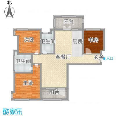 天马相城四期133.72㎡22#E户型3室3厅2卫1厨