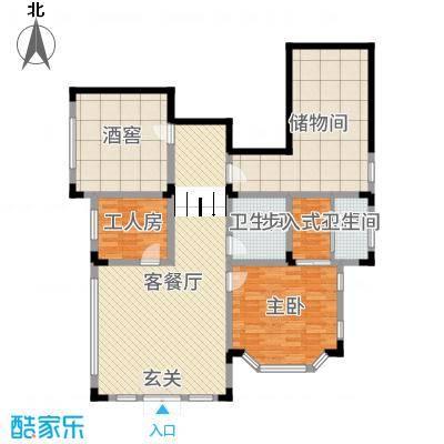 华侨花园333.20㎡J1首层户型4室4厅2卫