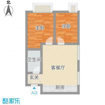 万行中心55.34㎡悦公寓A户型1室1厅1卫1厨