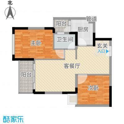 君汇上城89.54㎡1栋03单元2-17A奇数层户型3室3厅1卫1厨