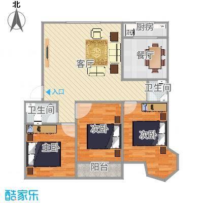 3室2厅2卫A户型
