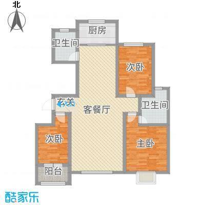 金润・香榭居131.00㎡5号楼G2户型3室3厅2卫1厨