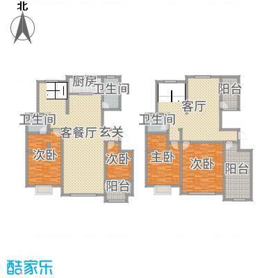 金润・香榭居288.00㎡5#楼复式F1户型4室4厅3卫1厨