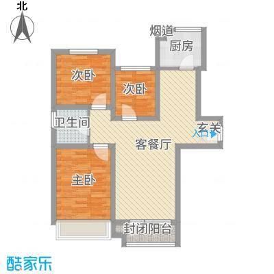 隆河谷二期88.50㎡GA-2户型2室2厅1卫1厨