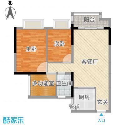 85平方米,4栋01/02单元-2+1室2厅1卫-纹系列