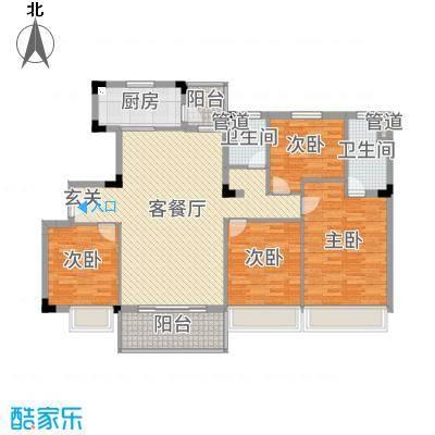 九江碧桂园140.00㎡花园洋房户型4室4厅2卫1厨