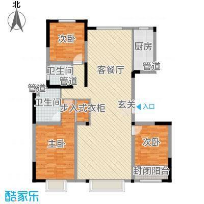 鑫界王府168.58㎡P户型3室3厅2卫1厨