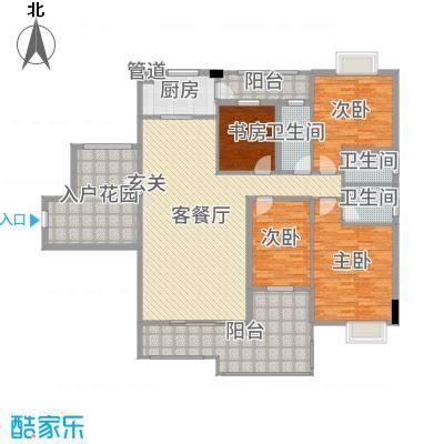 水口雅乐苑184.40㎡M栋A标准层户型4室4厅3卫1厨