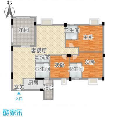丽景华庭153.04㎡3户型3室3厅2卫