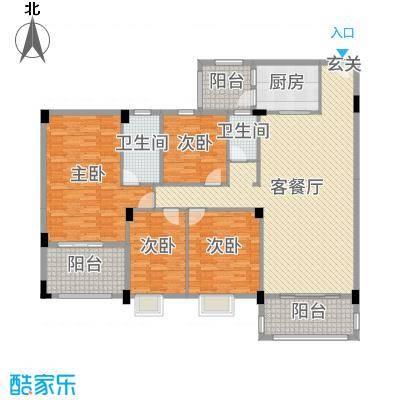 丽景华庭160.56㎡1户型4室4厅3卫