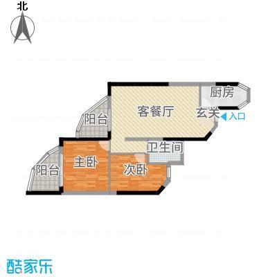 碧桂园十里银滩88.00㎡梵高的海9#-11#A1户型2室2厅1卫1厨