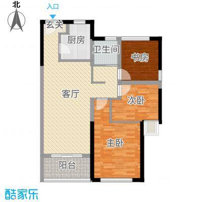 新城帝景90.00㎡南区21#、25#楼标准层精装A户型3室3厅1卫1厨