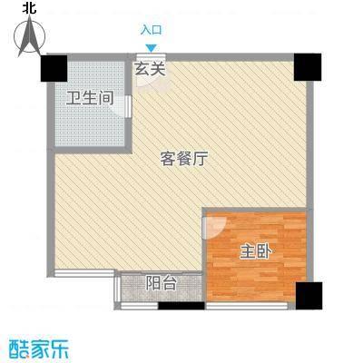 金都花园84.83㎡惠丰广场写字楼4户型2室2厅1卫