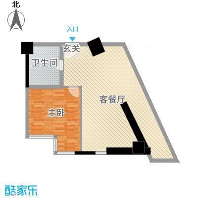 金都花园79.36㎡惠丰广场写字楼1户型1室1厅1卫